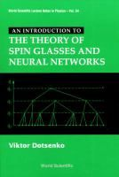 An Introduction to the theory of spin glasses and neural networks / Viktor Dotsenko Spinning, Theory, Glasses, Hand Spinning, Eyewear, Eyeglasses, Eye Glasses, Indoor Cycling