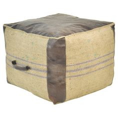 Tilda Leather Pouf