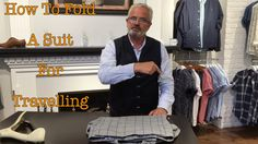 How To Fold A Suit Jacket, Waistcoat and Pants for Travelling is a commonly asked question here at ej menswear. Nice Clothes, Business Travel, Lds, Vacations, Travelling, Cool Outfits, Suit Jacket, Menswear, Suits