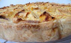 Τάρτα με μήλα και ψίχα αμυγδάλου | iefimerida.gr Apple Pie, French Toast, Sweets, Dishes, Four, Patience, Breakfast, Foodies, Muffins