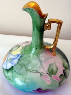 Porcelain Royal Vienna Stem Vase Bavaria by VintageParisDesign, $225.00