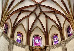 Techo gótico de la Capilla del Obispo, situada en la Plaza de la Paja.