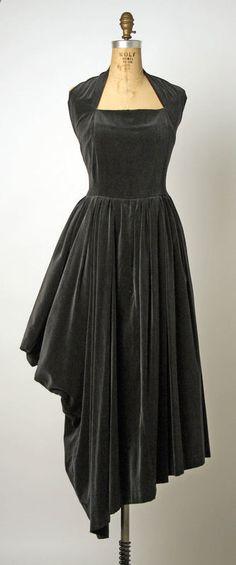 Dress Comme des Garçons (Japanese) ca. 1986 cotton, synthetic
