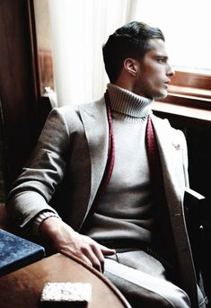 Sartorial Rivista.  turtleneck  and cashmere coat