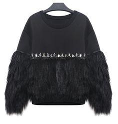 Europe New Winter Sweatshirt Women Black Europe Punk Handmade Hoodies Diamond Mosaic Plush Fashion Brand Hoodies femme