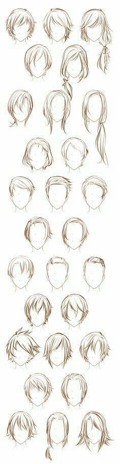 Hairstyles, boys; How to Draw Manga/Anime
