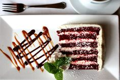 Red Velvet Cake at Georgia Brown's in Washington, D.C.  #foodphotography