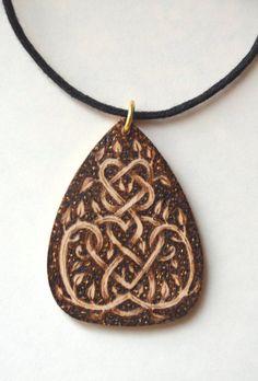 pyrography - wood burned pendants, bracelets, wooden boxes, etc