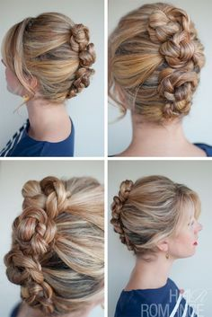 Romantic Easy Daily Hairstyle: French Roll Twist & Pin Braid | Hairstyles Weekly #frenchtwisthair