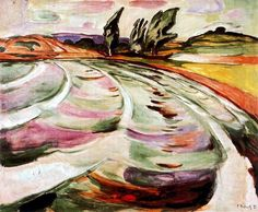 Munch, Edvard (1863-1944) - 1921 The Wave (Munch Museum, Oslo, Norway)