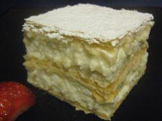 FarkasVilmos: Házi krémes Hungarian Cuisine, Hungarian Recipes, Kremes Recipe, Torte Cake, Sweet And Salty, Greek Recipes, Cake Recipes, Sweet Treats, Food And Drink