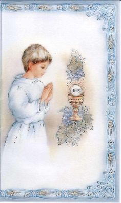 Première Communion, First Holy Communion, Full Body Workout Routine, Chocolate Decorations, Prayer Cards, Candle Making, Art For Kids, Diy And Crafts, Scrapbook