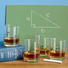 Look what I found at UncommonGoods: Math Glasses - Set of 4 for $38 #uncommongoods