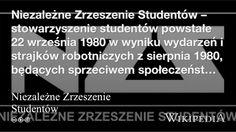 """""""Niezależne Zrzeszenie Studentów"""" på @Wikipedia: Workers Union"""