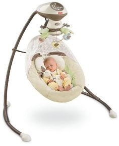 Amazon.com: Fisher-Price Cradle 'N Swing, My Little Snugabunny: Baby