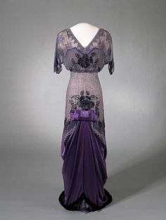 Evening dress once worn by Queen Maud of Norway, 1910-13