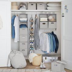 Closet sweater bins with lid pbteen організаторські ідеї, спальні, меблі, д Dorm Storage, Dorm Room Organization, Storage Sets, Closet Storage, Organization Ideas, Closet Organisation, Linen Storage, Laundry Storage, Bedroom Storage