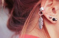 Aretes en el cartilago de la oreja - 101trendy