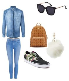 """""""Out"""" by giaai on Polyvore featuring Brunello Cucinelli, Paige Denim, Charlotte Russe, Vans and MCM"""