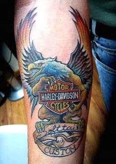harley davidson tatttoos | Harley Tattoo-Masculine and Stubborn | Tattoo designs