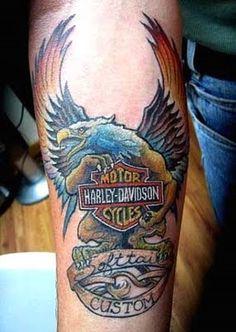 harley davidson tatttoos | Harley Tattoo-Masculine and Stubborn | Tattoo designs