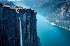Image result for kjerag waterfall, norway