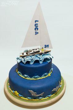 cake sailboat made of sugar paste
