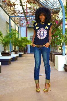 Style Pantry | Sleeveless Kingdom Tee + Skinny Jeans