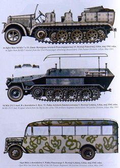 Afrika Korps vehículos