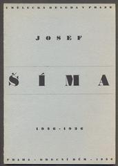 JOSEF ŠÍMA 1926 - 1936. - katalog výstavy 1936.