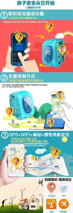 Smart Child Watch SIM Card Calling Phone GPS Wifi Location Tracker Remote Monitor Wristwatch Child Anti Lost Clock GSM Phone | #GPSTracker Landing, Monitor, Sims, Remote, Banner, Clock, Watch, Phone, Children