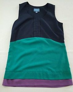 HUGE BACK TO SCHOOL SALE!  Simply Vera Vera Wang Women's Sleeveless Tunic Size XSmall Casual Career Top #3