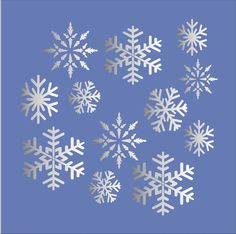 SNOWFLAKES Colorado Snow Storm STENCILS by SuperiorStencils