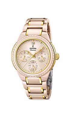 Festina F16699/3 - Women's Watch, ceramica, color: beige https://www.carrywatches.com/product/festina-f166993-womens-watch-ceramica-color-beige/  #automaticwatch #festina #festinawatch #festinawatches #ladies #ladieswatches #women #womenswatches - More Festina ladies watches at https://www.carrywatches.com/shop/wrist-watches-for-women/festina-watches-for-women/