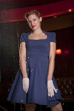 Passerine - blue white polka dot dress Ⓥ White Polka Dot Dress, Polka Dots, Vegan Fashion, Corporate Design, Costume Design, Blue And White, Costumes, Summer Dresses, Fashion Design