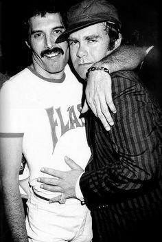 Freddie Mercury & Elton John – 1980