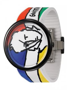 https://www.cityblis.com/2069/item/15358 | JC04-3 - $125 by odm | Famous French fashion designer Jean Charles de Castelbajac (JCDC) loves art and enjoys playing art design,sparkles the idea of drawing on the wrist!Using the timepiece dial as the canvas and the case mirror as frame, an art piece is ready on the wrist! JCDC x odm proudly presents the latest art ... | #Watches
