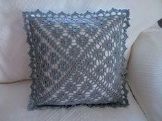 Cz - Online Bazar A Rodinný Inzertní Server - Diy Crafts Crochet Pillow Cases, Crochet Cushion Cover, Crochet Bedspread, Crochet Cushions, Crochet World, Crochet Home, Diy Crochet, Crochet Lace Edging, Crochet Chart