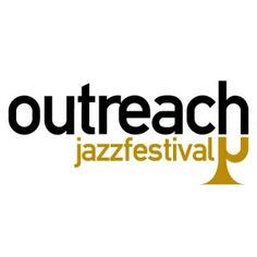 Outreach Jazz festival on white
