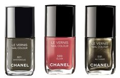 A trio of Fall shades from CHANEL  - perfect for fall