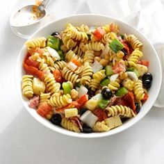 Homemade Antipasto Salad Recipe from Taste of Home