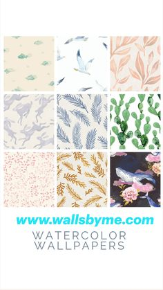 Best Watercolor Removable Wallpaper