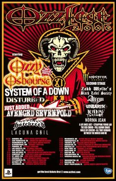 Ozzfest 2006, the bands are listed on picture, went for my kid River