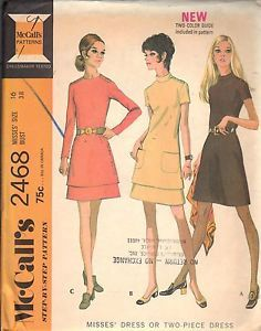 Vintage Sewing Pattern Two Piece Dress 2468 McCalls Size 16 Bust 38 Hip 40 Uncut | eBay