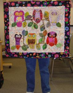 owl quilt... would be so cute for a little girl's room!