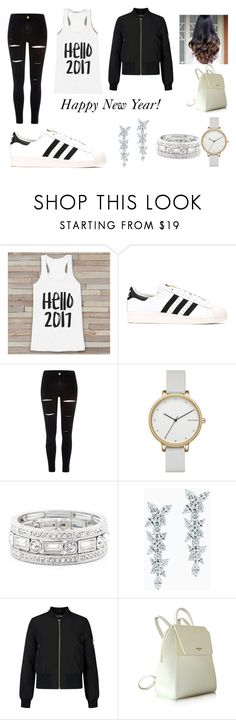 """""""Happy New Year"""" by artyblue06 ❤ liked on Polyvore featuring adidas Originals, River Island, Skagen, Sole Society, Tiffany & Co. and Miss Selfridge"""