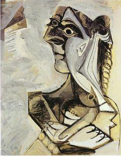 'Femme avec tresse', 1971 de Pablo Picasso (1881-1973, Spain)