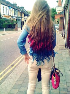 dip dye hair<3 @Jordan Luther you need to do this when you grow out your hair