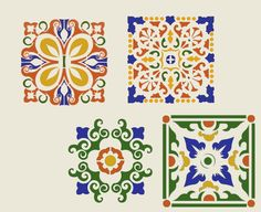 painting tiles with stencil - Google Search