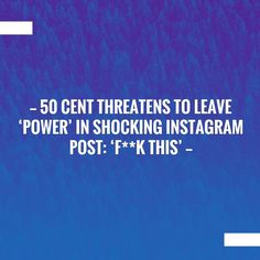 New on my blog! 50 Cent Threatens To Leave 'Power' In Shocking Instagram Post: 'F**k This' https://7gooddeals.com/50-cent-threatens-to-leave-power-in-shocking-instagram-post-fk-this/?utm_campaign=crowdfire&utm_content=crowdfire&utm_medium=social&utm_source=pinterest
